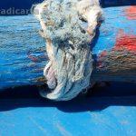 Isole Eolie - particolare di un remo di un gozzo