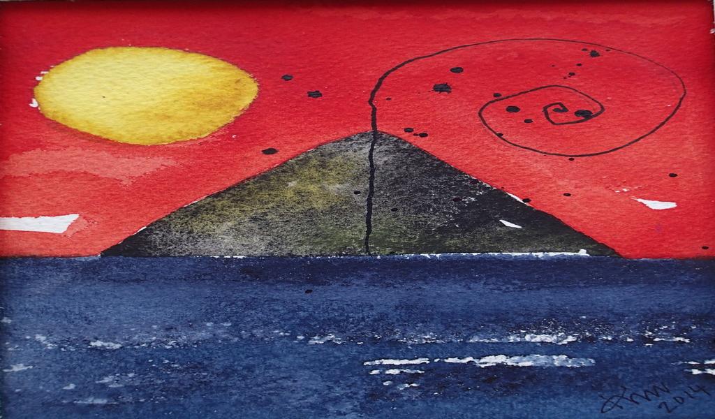 Isola di Stromboli - dipinto