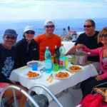 Pranzo in barca, ringraziamo il cuoco di bordo Roberto