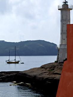 Isola di Ventotene-veduta dal porto romano