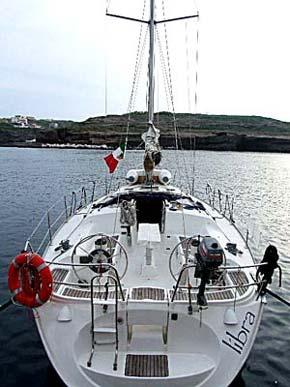 La barca vista da poppa