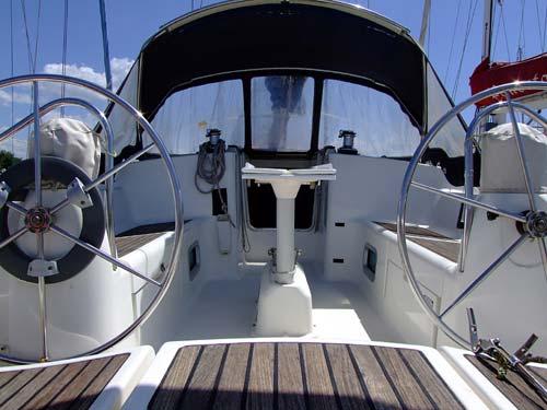Sun odyssey 40 pozzetto della barca