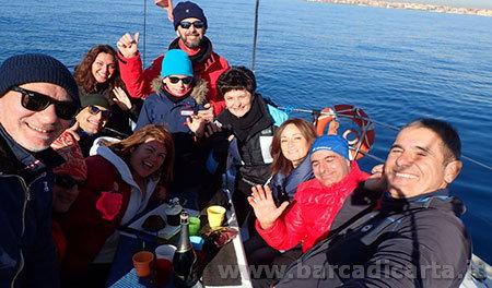 festa di compleanno in barca a vela