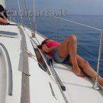 Un'uscita di relax in barca a vela con poco vento
