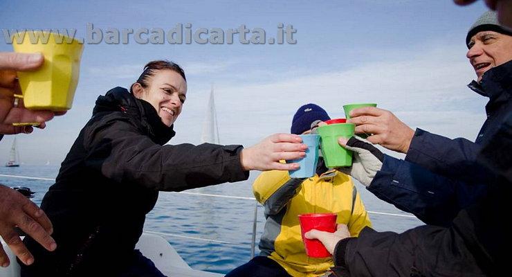 brindisi a bordo fine regata