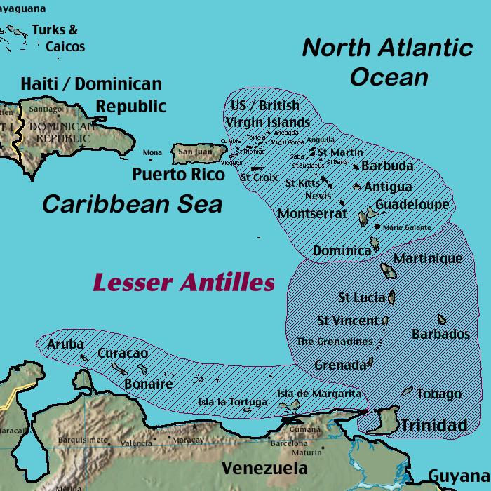Itinerario Caraibi-lesser-antilles