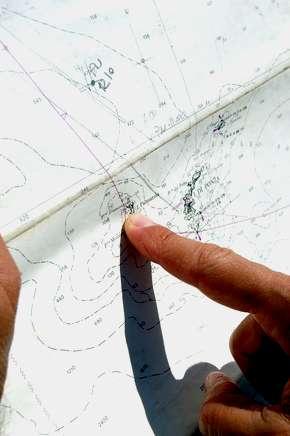 carta nautica per carteggio esame Patente