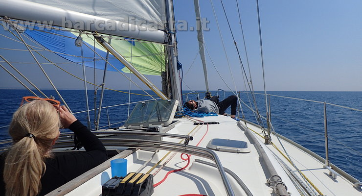 Gita in barca a vela a Fiumicino