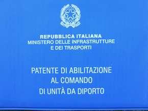 Una Patente nautica per unità da Diporto