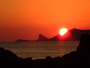 spettacolare tramonto a capo Pertusato-Corsica