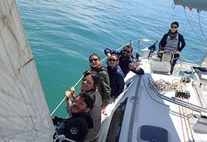 uscita a vela di un giorno a Ostia