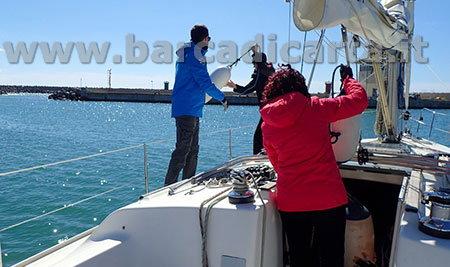 uscita giornaliera a vela - corso di ormeggio in porto