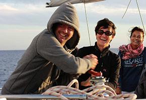 Corso di vela per principianti a Ostia su cabinato